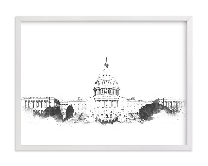 """""""Capitol Building"""" - Limited Edition Art Print by Paul Berthelot in beautiful frame options and a variety of sizes."""