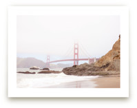 The Golden Gate in Fog by Sharon Rowan