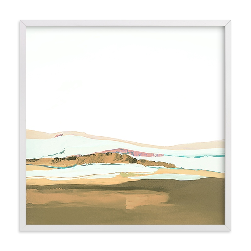 This is a brown art by Caryn Owen called Pacific Seascape with standard.