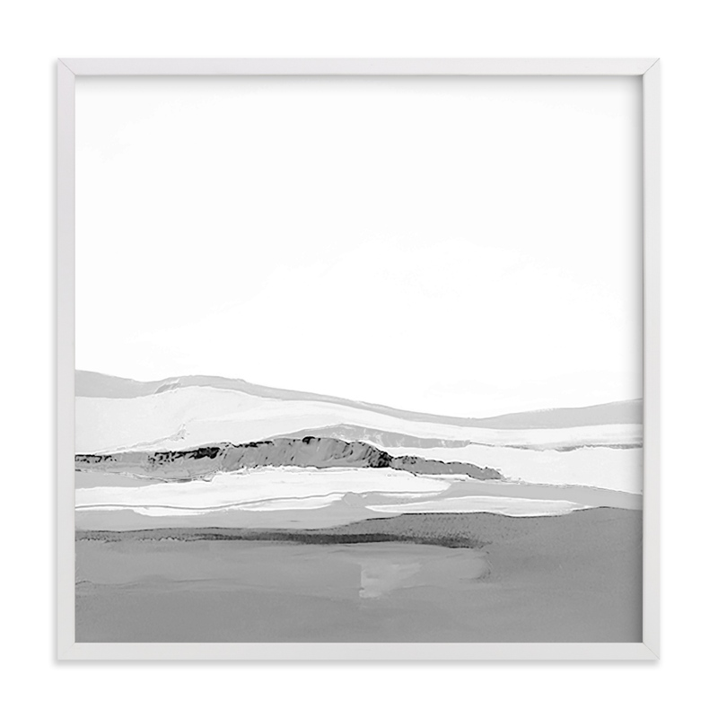 This is a white art by Caryn Owen called Pacific Seascape with standard.