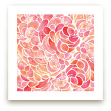 Abstract Peony Watercolor