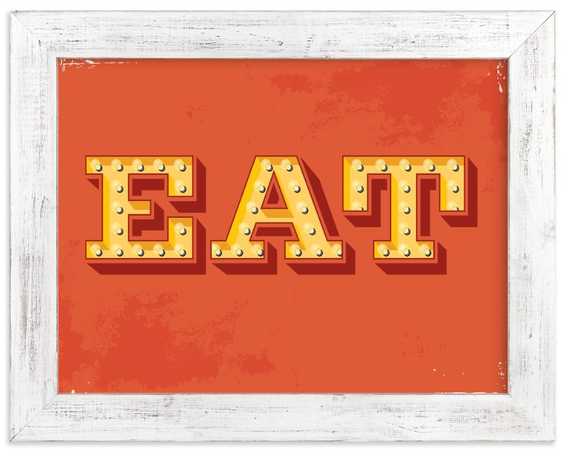 """""""EAT"""" - Limited Edition Art Print by Smudge Design in beautiful frame options and a variety of sizes."""