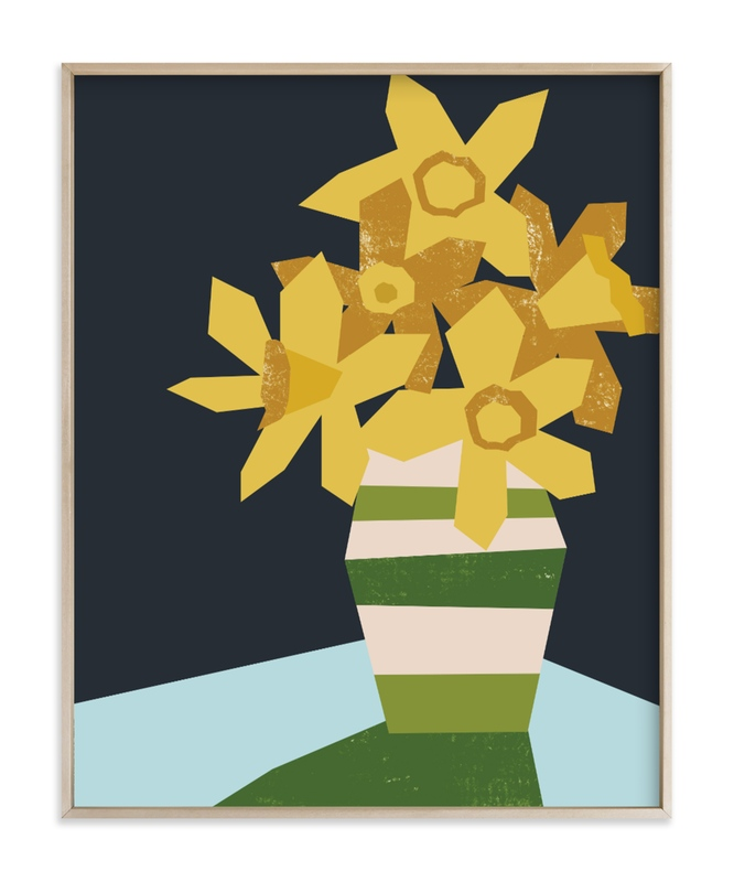 Striped Vase Art Print
