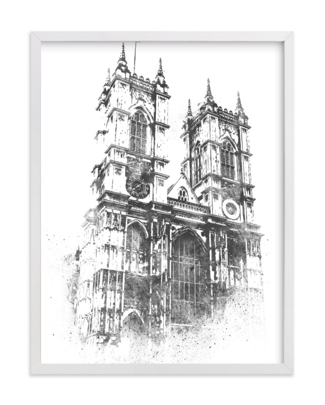 """""""Westminster Abbey"""" - Limited Edition Art Print by Paul Berthelot in beautiful frame options and a variety of sizes."""