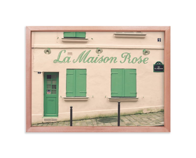 """""""La Maison Rose"""" - Limited Edition Art Print by Caroline Mint in beautiful frame options and a variety of sizes."""