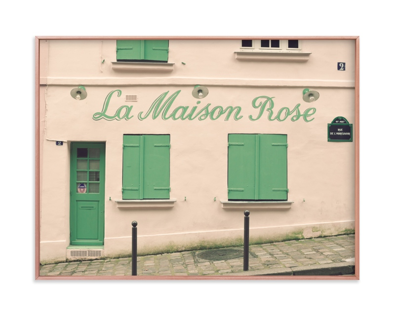 """La Maison Rose"" - Limited Edition Art Print by Caroline Mint in beautiful frame options and a variety of sizes."