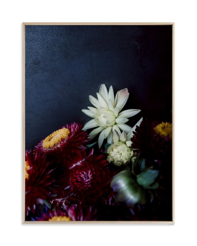 Dark Fall Flowers Art Print