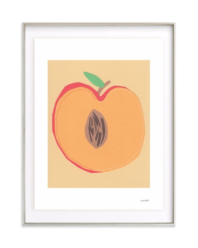 Peach Pit Art Print