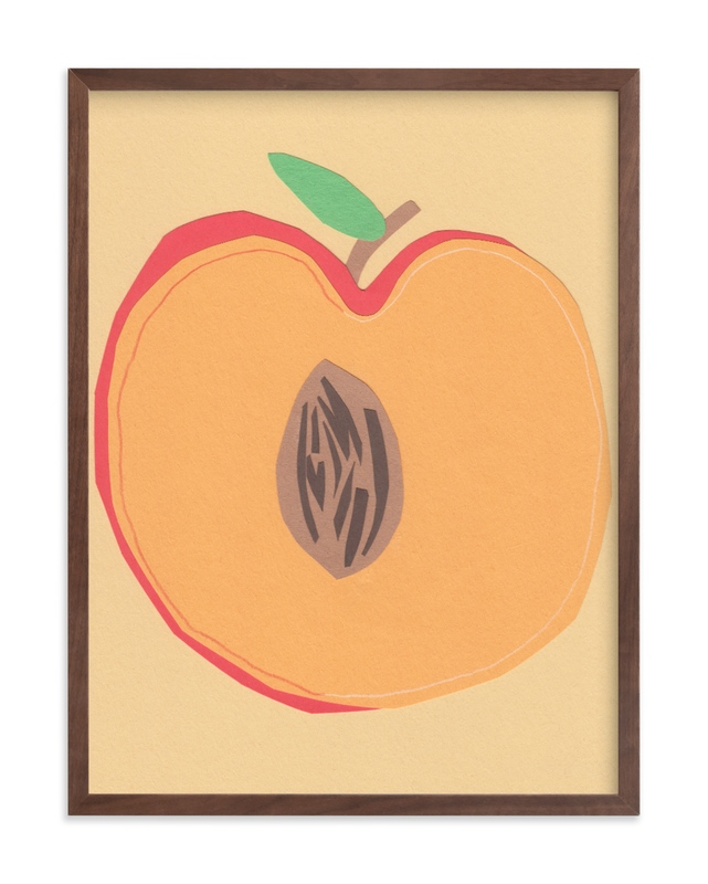 """Peach Pit"" - Limited Edition Art Print by Elliot Stokes in beautiful frame options and a variety of sizes."