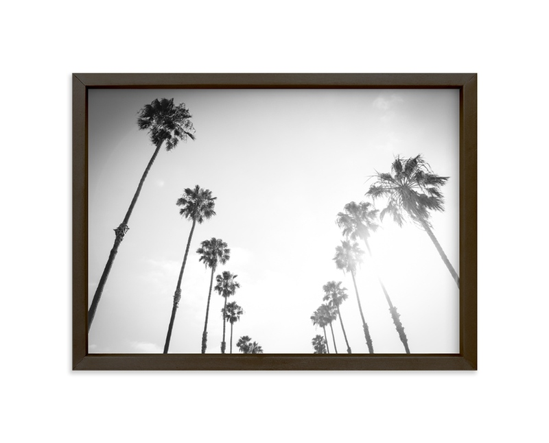 """""""California Palms"""" - Limited Edition Art Print by Lauren Armellini in beautiful frame options and a variety of sizes."""