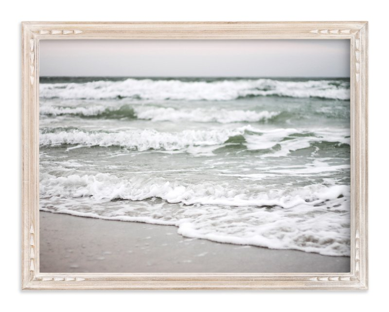 """Monochrome Shore"" - Limited Edition Art Print by Eleanor Black in beautiful frame options and a variety of sizes."