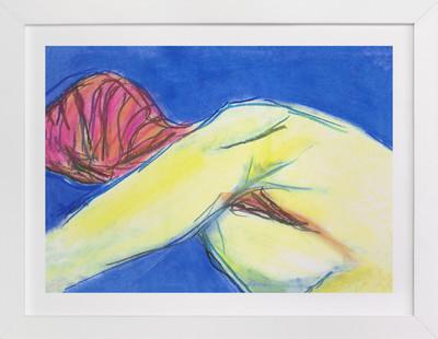Figure in the Blues Art Print