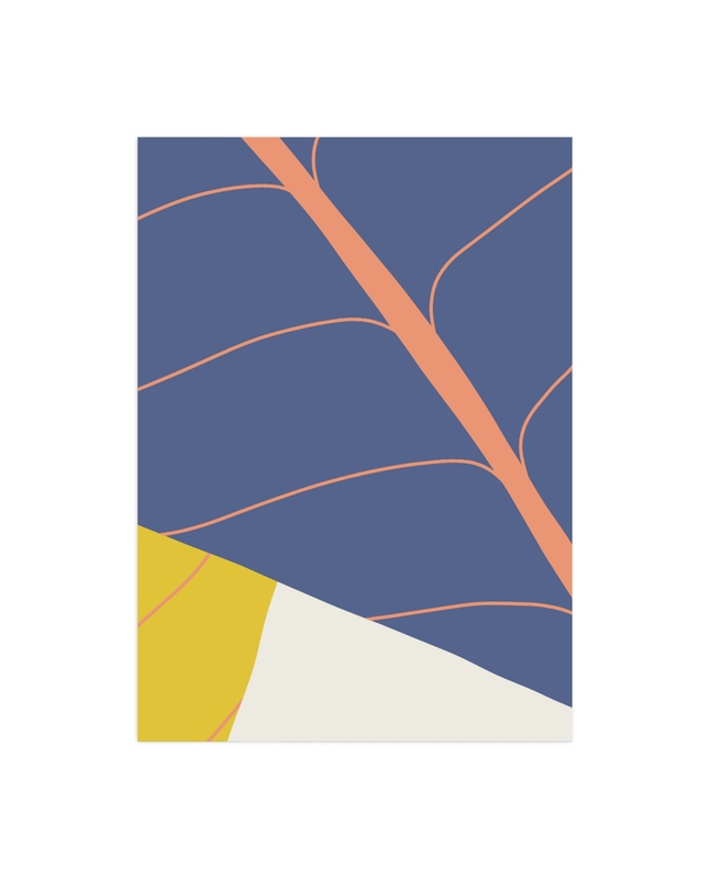 """""""Abstract Leaves"""" - Limited Edition Art Print by Vine and Thistle in beautiful frame options and a variety of sizes."""