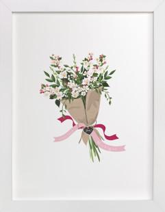 Michigan Apple Blossom Bouquet Art Print