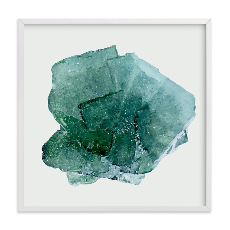 """""""teal beach glass"""" - Limited Edition Art Print by Baumbirdy in beautiful frame options and a variety of sizes."""