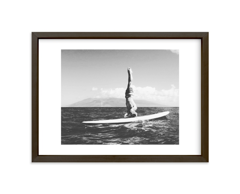 """""""Island Yogi"""" - Limited Edition Art Print by Amanda Phelps in beautiful frame options and a variety of sizes."""