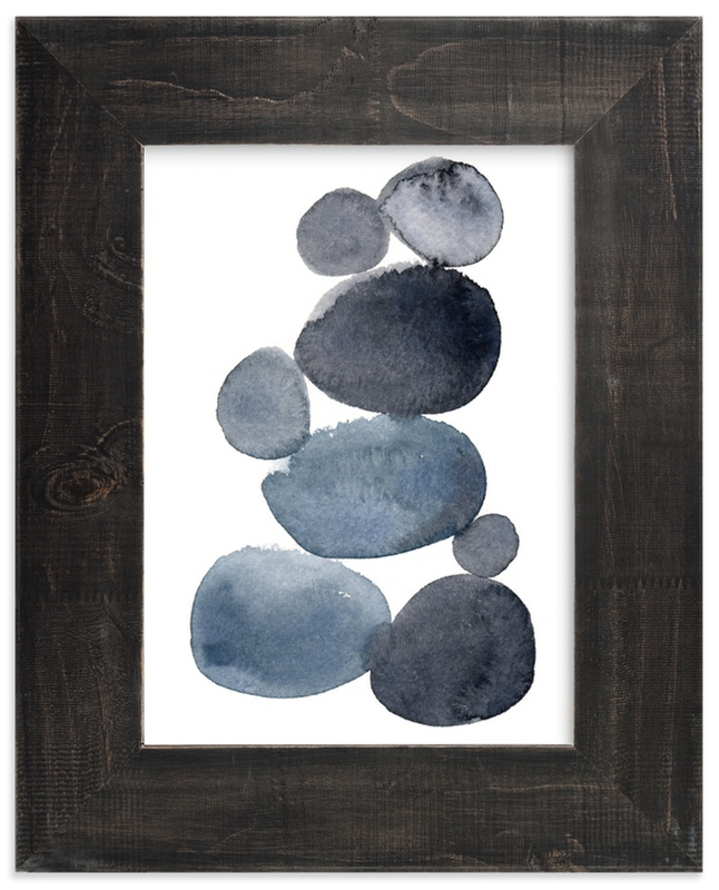 """stone pile"" - Limited Edition Art Print by Kelly Witmer in beautiful frame options and a variety of sizes."