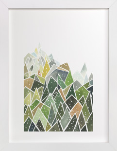 Landscape of Triangles and Dots Art Print