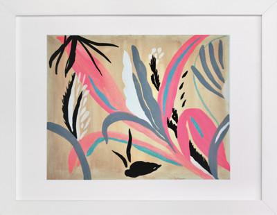 Pink foliage Art Print