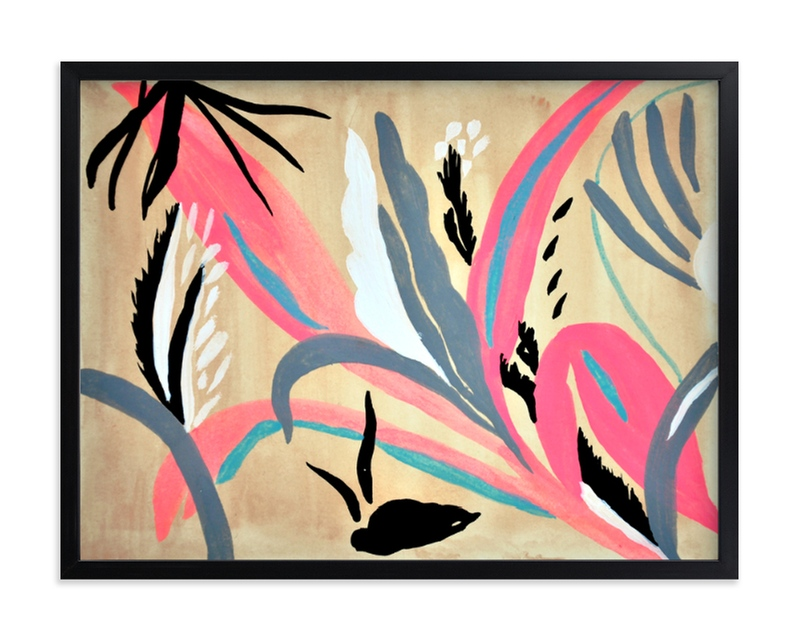 """Pink foliage"" - Limited Edition Art Print by FERNANDA MARTINEZ in beautiful frame options and a variety of sizes."