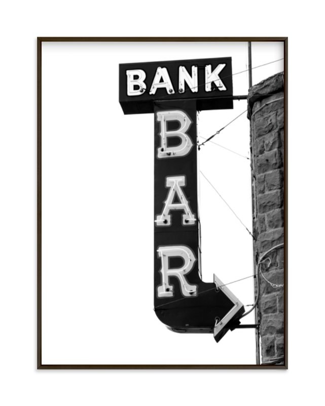 """Bank Bar"" - Limited Edition Art Print by Calais A Le Coq in beautiful frame options and a variety of sizes."