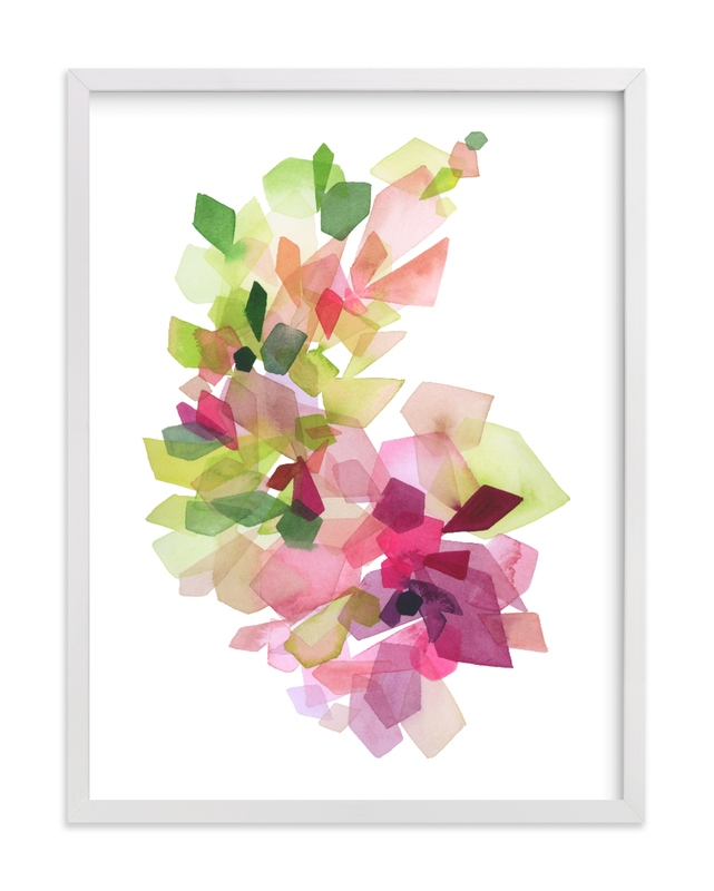 """Burgundy Gems"" - Limited Edition Art Print by Yao Cheng Design in beautiful frame options and a variety of sizes."