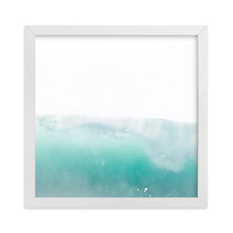 """""""Turquoise Surf"""" - Limited Edition Art Print by Shannon Howard in beautiful frame options and a variety of sizes."""