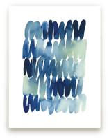 Scribbles in Blue