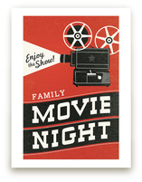 Family Movie Night Art Prints