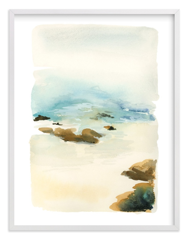 """Beach"" - Limited Edition Art Print by Yao Cheng Design in beautiful frame options and a variety of sizes."