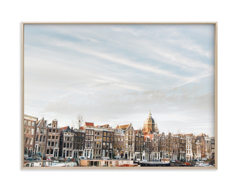 """""""Minimalist Sunset in Amsterdam"""" - Limited Edition Art Print by The One With Wanderlust in beautiful frame options and a variety of sizes."""