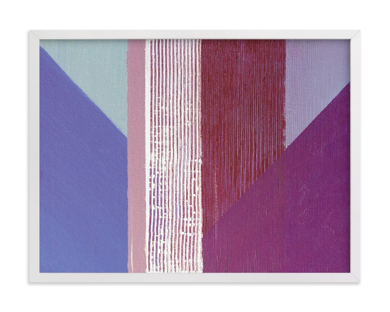 This is a purple art by Jen Florentine called Hues.
