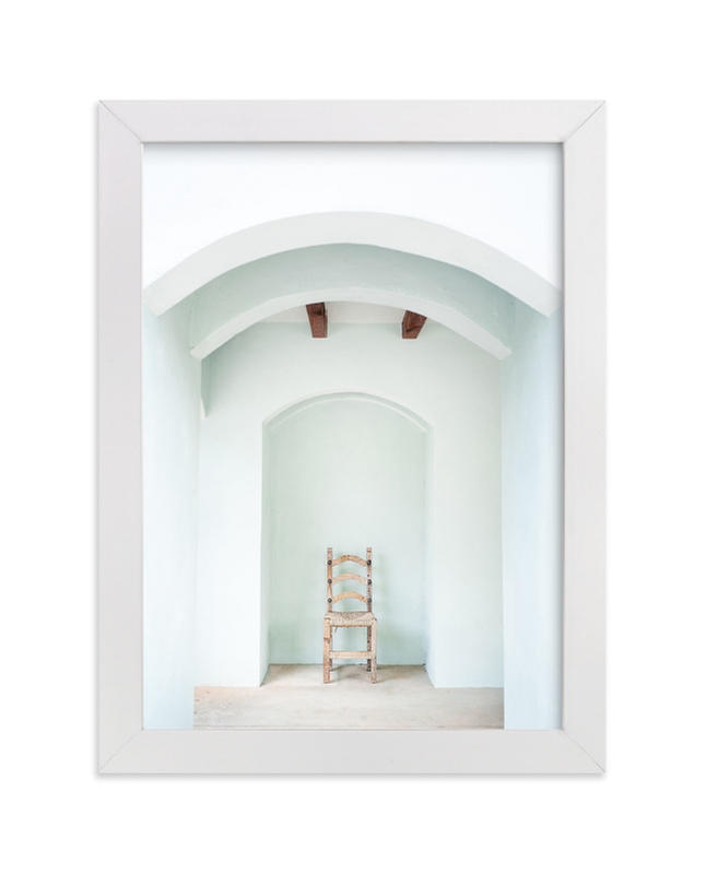 """""""Seated in Greece"""" - Limited Edition Art Print by Kaitie Bryant in beautiful frame options and a variety of sizes."""