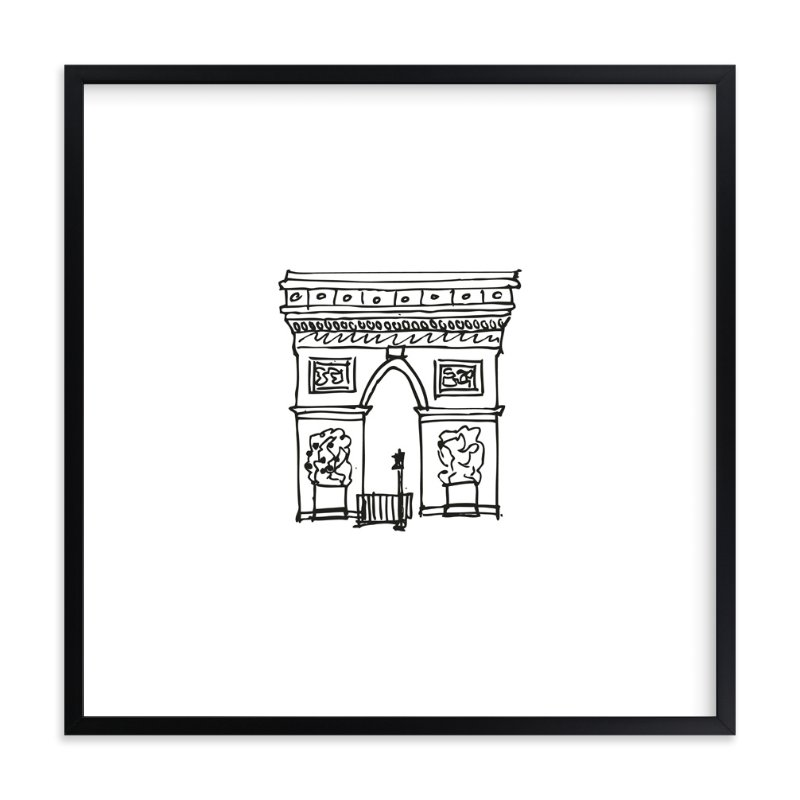 """""""The Arc de Triomphe Paris"""" - Limited Edition Art Print by Phrosne Ras in beautiful frame options and a variety of sizes."""