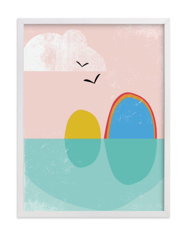 """""""Bird Rock"""" - Limited Edition Art Print by sue prue in beautiful frame options and a variety of sizes."""