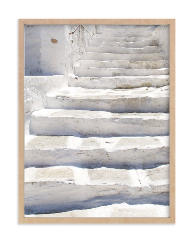 White stairs Art Print