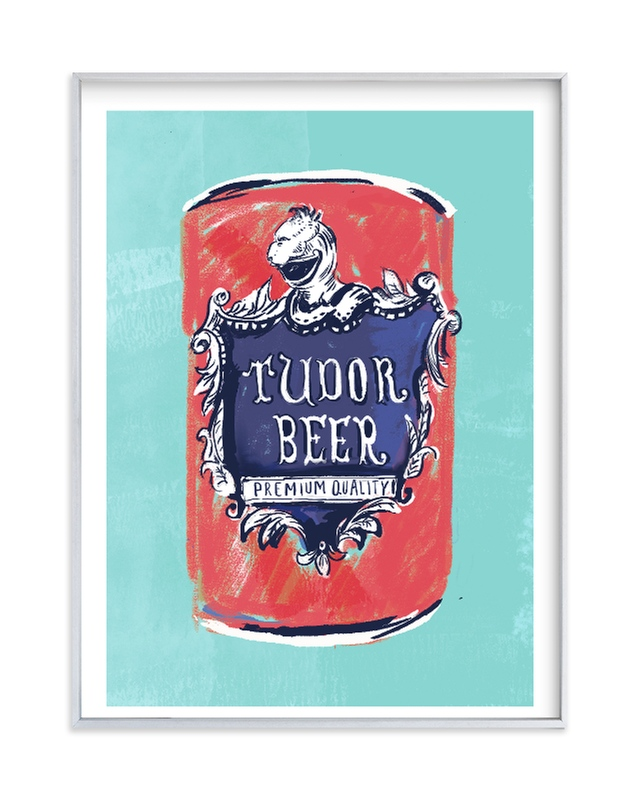 """""""Beer Diptych (i)"""" - Limited Edition Art Print by Zoe Pappenheimer in beautiful frame options and a variety of sizes."""