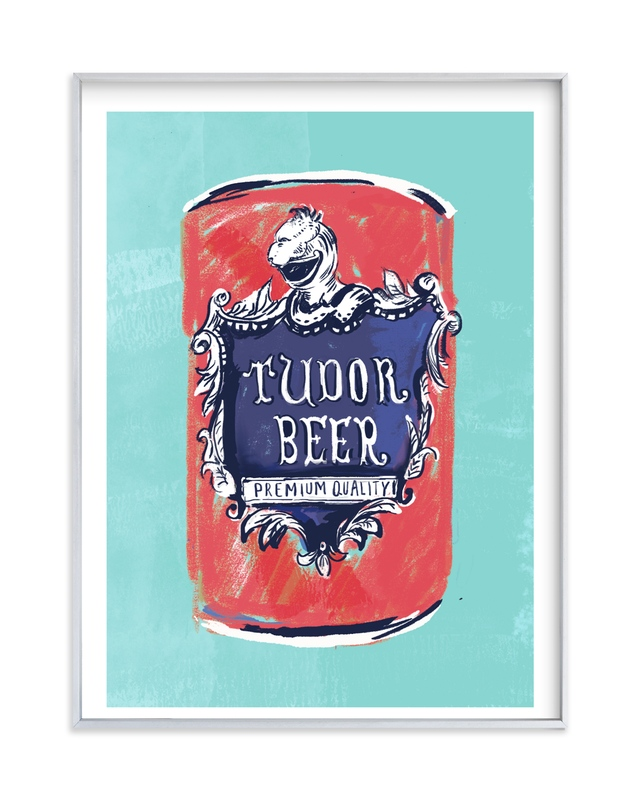 """Beer Diptych (i)"" - Limited Edition Art Print by Zoe Pappenheimer in beautiful frame options and a variety of sizes."
