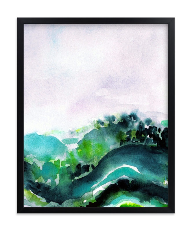 """Vast Valley"" - Limited Edition Art Print by Jenny Partrite in beautiful frame options and a variety of sizes."