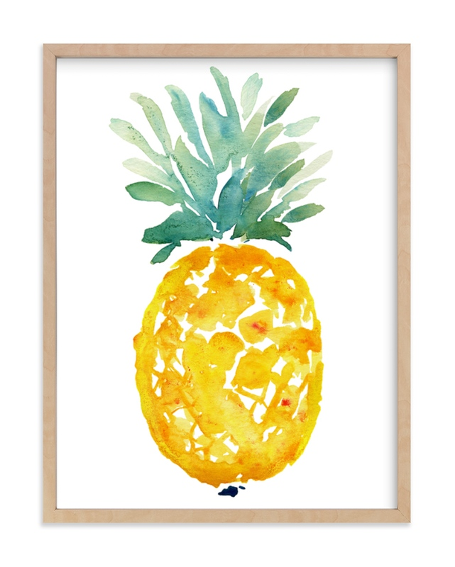 """""""ananas """" - Limited Edition Art Print by Kiana Mosley in beautiful frame options and a variety of sizes."""