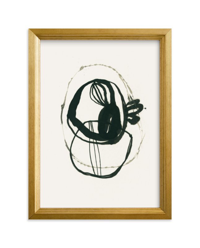 """""""Black 03"""" - Limited Edition Art Print by Catilustre in beautiful frame options and a variety of sizes."""
