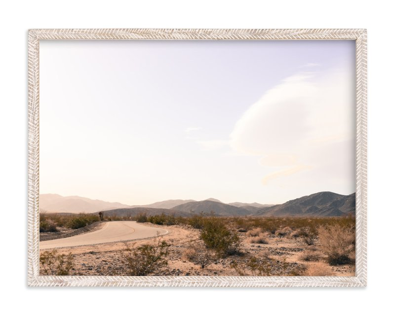 """""""Desert Road"""" - Limited Edition Art Print by Kitty Seeber in beautiful frame options and a variety of sizes."""