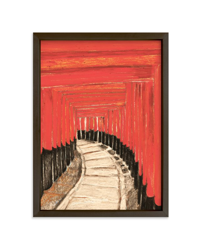 """Journey Through a Thousand Gates"" - Limited Edition Art Print by Pooja Pittie in beautiful frame options and a variety of sizes."