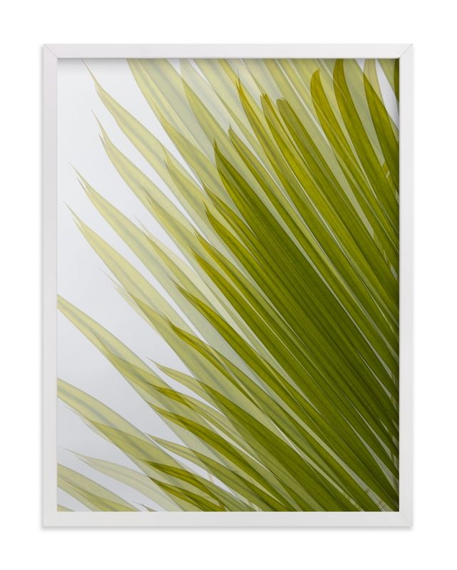 This is a green art by Eliane Lamb called Palm leaves 2.