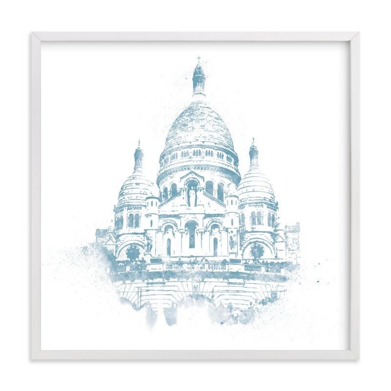 """""""Sacre Coeur"""" - Limited Edition Art Print by Paul Berthelot in beautiful frame options and a variety of sizes."""