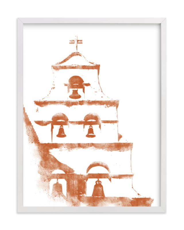 """San Diego Mission"" - Limited Edition Art Print by Paul Berthelot in beautiful frame options and a variety of sizes."