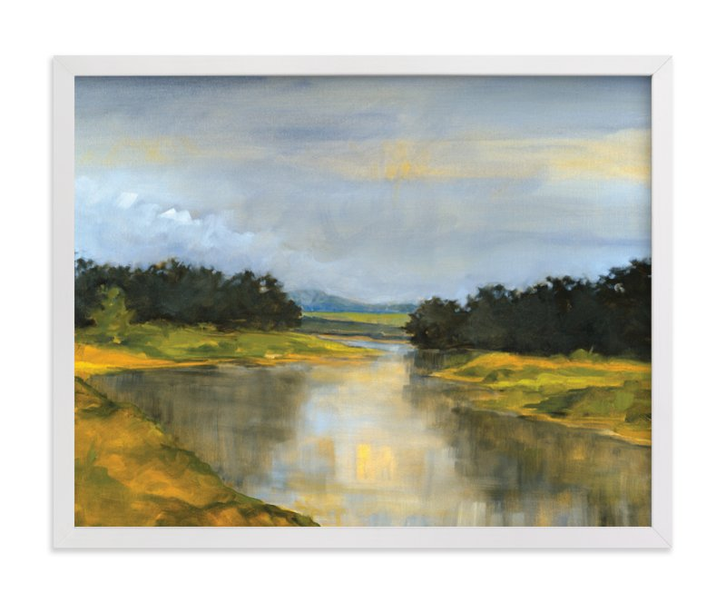 """Glass River"" - Limited Edition Art Print by Stephanie Goos Johnson in beautiful frame options and a variety of sizes."