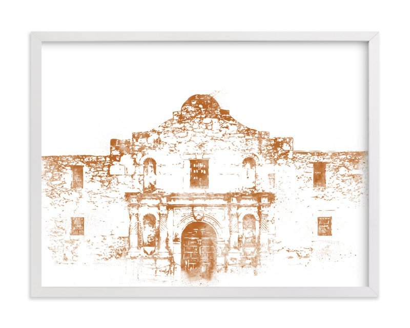 This is a orange art by Paul Berthelot called The Alamo.
