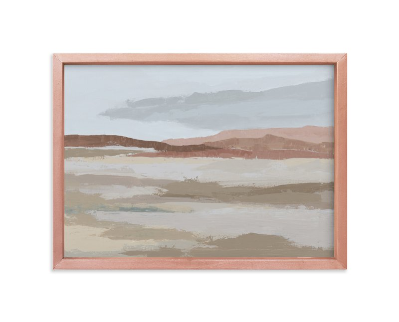 """""""Blushing Expanse"""" - Limited Edition Art Print by Kati Ramer in beautiful frame options and a variety of sizes."""
