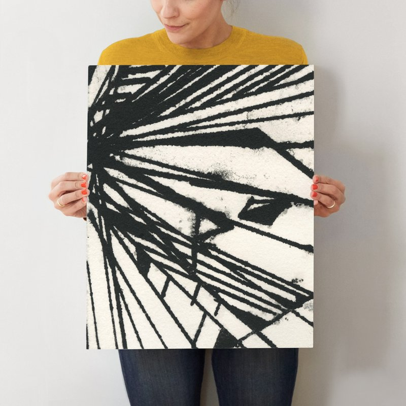 Ink Shard Series 1 Wall Art Prints By Angela Simeone